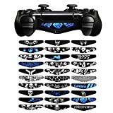 eXtremeRate® Set of 30 Scared Skull Boss Designs Custom Led Lightbar Light Bar Vinyl Decal Skin Sticker for Dualshock 4 PS4 Playstation 4 Game Controller by eXtremeRate -