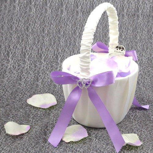 Preisvergleich Produktbild 1x Streukörbchen Hochzeit EinsSein® Amore flieder Blumenkinder Hochzeit