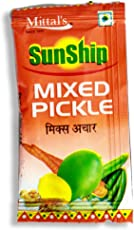 Mittal's Sunship Mixed Pickle Sachet 8gm (3 Packs of 60 each)