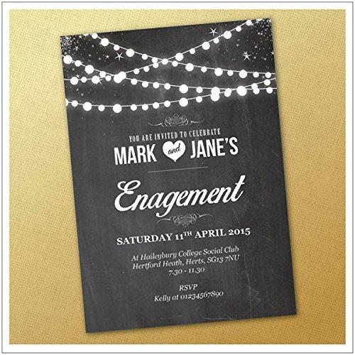 Engagement Party Invitations Amazoncouk – Personalised Engagement Party Invitations