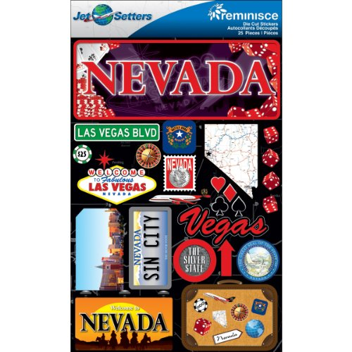 Jet Setters Dimensional Stickers-Nevada