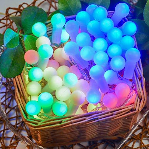 Uping Guirlande Lumineuse Boule LED 12m 100 Lampes 8 Modes de Fonctionnement Décoration Noël Intérieur / Extérieur(Multicolore)
