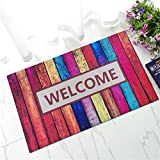 "Molie 17.7 x 29.5"" Entry Way Outdoor Door Mat with Non Slip Backing - WELCOME"