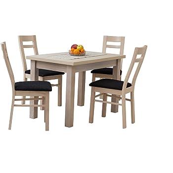 Mb Moebel Esstisch Mit 8 Stühlen 220 X 90 Cm Ausziehbare