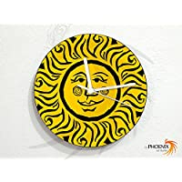 Sun - Yellow Art Face - Universe Stars Space Galaxy