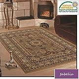 Fabelia Orient Teppich Kollektion Marrakesh - Orientalisch-europäische Designs/klassisch und modern (240 x 340 cm, Casablanca/Beige 0207)