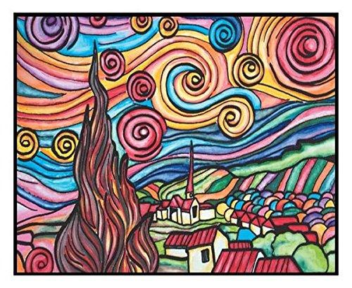 Colorvelvet la3 van gogh notte stellata disegno 47 x 35 cm for Notte di van gogh
