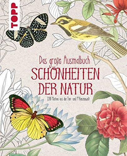 Das große Ausmalbuch. Schönheiten der Natur: 120 Motive aus der Tier- und Pflanzenwelt (Die Kunst Der Zen-meditation)
