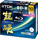 TDK Blu-ray BD-R Disc 10 Pack - BD-R 25GB 6X - Super Hard Coating Surface (japan import)