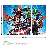 FORWALL Marvel Avengers Vlies Fototapete Tapete Vliestapete Dekoshop Marvel Avengers AD963VEXXL (312cm x 219cm) Photo Wallpaper Mural