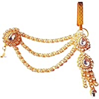 Project Luxe Beautiful Gold Plated Kamarband for Women and Girls - Waist Hip Chain - Side Latkan