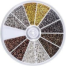 2250 Piezas Abalorios de Crimpado de Tubo 2 mm 2,5 mm Espaciadores Cuentas Sueltas de Pulsera Cierres Casquillos de Fabricación de Bisutería, 6 Colores