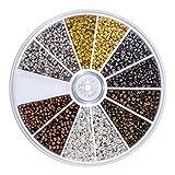 2250 Stück Tube Crimp Perlen 2 mm 2,5 mm Gemischte Armband Lose Perlen Spacer Schmuckherstellung Ende Kappe, 6 Farben