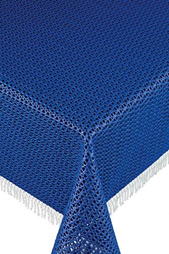 Friedola 20161 Gartentischdecke Rustikal, Design-Purism, 160 x 210 cm, dunkelblau