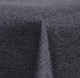 Maltex24 Textil Tischdecke - Leinen Optik - wasserabweisend Eckig 135x200 (Anthrazit, ca. 135 x 200 cm)