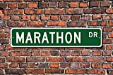 Metall Stree Marathon Schild Marathon Fan Marathon Teilnehmer Geschenk Marathon Finnmark Aluminium Wand Poster Yard Zaun Schild