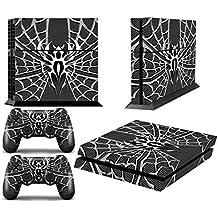 Juego de skins para PS4 y dos mandos, diseño de Widow Maker Cromo y Negro [PlayStation 4]