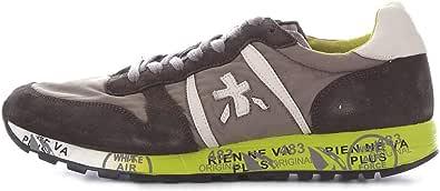 PREMIATA Sneaker Uomo Modello Eric 3290 in Pelle. Colore Militare.