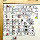 #8: MFM Toys Hindi Alphabets & Pictures Magnetic Tiles for classroom/home   96 Magnetic Tiles   (Does not include Magnetic Board)