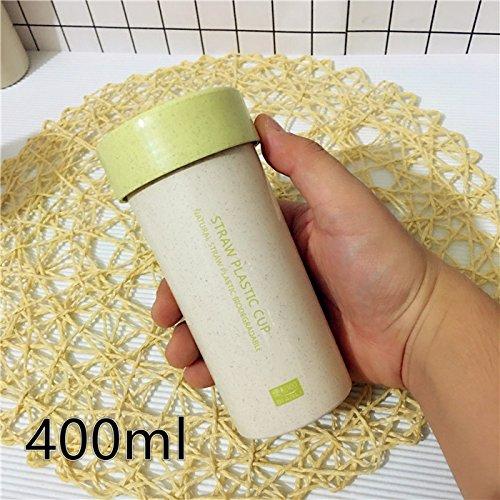 Damlonby Sports d'eau petite coupe coupe facilement des élèves masculins et féminins des gobelets en plastique portable simple ,400ml green