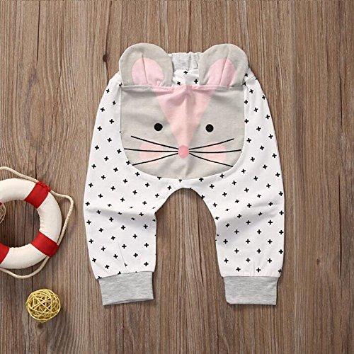 zooarts Baby Kinder Jungen Mädchen 3D Harem Hose Cat Formen Baby Lovely Hose 0–2Y, multi, 100 (19-24 Months)