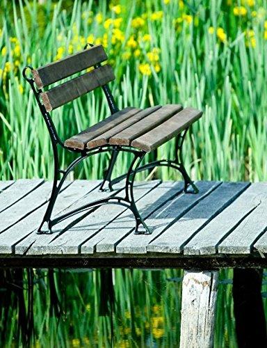 GOLD GARDEN Gartenbank TOSKANA Massivholz auf Aluminiumrahmen palisander in 2 Größen (150 cm - 3-Sitzer)