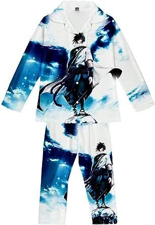 Pyjama Sets Anime Kakashi Ninja Teens Loungewear Soft Comfortable Pajamas Top & Bottoms 2 Piece