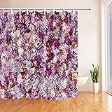 Chinesischer Drache Muster Print Dusche Vorhänge Polyester-167,6x 182,9cm-Badezimmer Vorhang Set mit Stufenmatten Teppiche 23,6x 15,7inch-12Haken