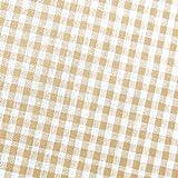 0,5m Vichy-Karo klein 3mm Stoff beige/ weiß Meterware 100%
