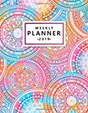 Weekly Planner 2019: Multicolor Mandala Weekly and Monthly Organizer. Oriental Yearly Agenda and Journal (January 2019 - December 2019).