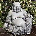 Large Garden Ornaments - Pearl Stone Buddha Statue