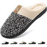 Deevike Pantofole Uomo Inverno Casa Ciabatte Morbido Antiscivolo Cotone Scarpe Caldo Peluche Pattini per Interno Esterno