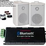 Amplificatore wireless/Bluetooth & 2x 100W a muro sfondo altoparlante attivo kit–Sistema HiFi Amp–Qualità audio Home Stream–CableFinder