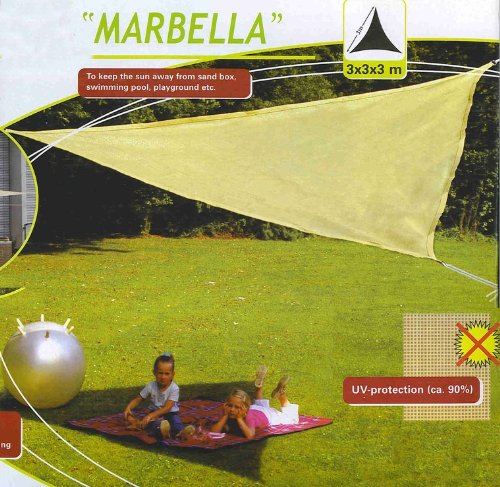 ombrelle triangulaire toile solaire parasol plage camping ou jardin 3x3x3m