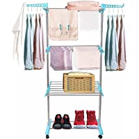 Fox Heavy Duty Cloth Drying Stand | Stainless Steel | Foldable Laundry Rack | Rust Proof | Made in Bharat