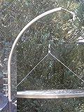 Unbekannt Grillgalgen + 70 cm Grillrost Grill Rost Edelstahl V2A 1.4301 f. Schwenkgrill Feuerschale Dreibein Feuerstelle