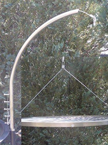 Grillgalgen + 70 cm Grillrost Grill Edelstahl V2A 1.4301 f. Schwenkgrill 20 mm