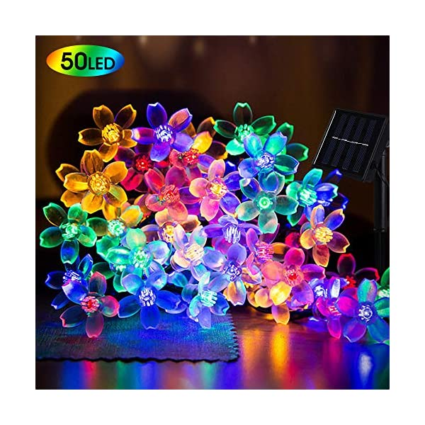 SPECOOL Guirnaldas luminosas Solares de Exterior,7M 50 LED Cadena Luz Solar Impermeable Luces Decorative String Luces de…