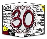 Endlich 30 - das witzige Geburtstagsgeschenk für junge Männer und Frauen