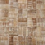 3D Wandverkleidung Wandfliesen I White Wash Wood I nachhaltige Recycling Holzwand Wandpaneele I Moderne Wanddekoration Wohnzimmer, Küche