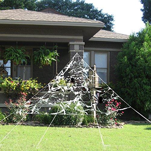 PBPBOX Halloween Groß Spinnennetz Halloween Deko Für Draussen (Halloween Spinnennetz)