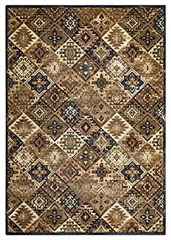 Rizzy Home Bennington Collection Power Loomed Double Pointed Designs Area