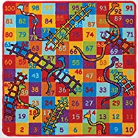Snakes and Ladders Rug 100 x 100 cm