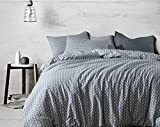 dushow 100% Baumwolle Blumenmuster Bettbezug Set–3pcs (1Bettbezug mit Reißverschluss & Conner Kabelbinder + 2