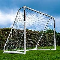 Football Flick - Porta da Calcio per Tutte Le Stagioni, in uPVC, con paletti trattati UV, 70 mm di Spessore (Misure: 6 x 4, 8 x 4, 8 x 6, 12 x 6), FFG086, Bianco, 8x6