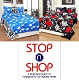 #4: STOP N SHOPP Super Home Combo Set Of 2 Grace Cotton King Size Double Bedsheet With 4 Pillow covers