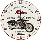 Uhr Wanduhr Motorrad Riders Born free 34 cm
