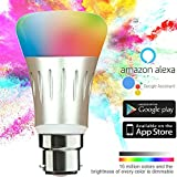 #7: Hans Lightings Smart Light, Smart WiFi LED Bulb Dimmable 7W 16 Million Colors B22 Base Compatible with Alexa Google Home Remote Control by iPhone & Android 50W Equivalent 1 Year Warranty