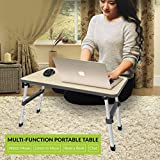 PAffy Premium Height Adjustable Foldable Multi-Function Portable Laptop Table/Study Table/Bed Table - Black Color