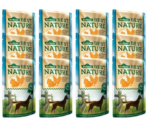 Dehner Best Nature Hundefutter Adult, Geflügel und Ananas mit Reis, 12 x 150 g (1.8 kg)